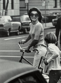 Ron Galella (American, b. 1931) Jackie Kennedy and John Kennedy, Jr., New York, 1969 Oversized gelat