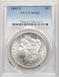 Morgan Dollars: , 1885-S $1 MS63 PCGS. PCGS Population: (3553/3494). NGC Census: (1778/1655). CDN: $330 Whsle. Bid for NGC/PCGS MS63. Mintage...