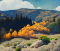 Paintings, Gerard Curtis Delano (American, 1890-1972). Afternoon in Autumn, Summit County, Colorado. Oil on canvas. 26 x 31 inches ...