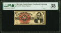 Fractional Currency:Fourth Issue, Fr. 1374 50¢ Fourth Issue Lincoln PMG Choice Very Fine 35.. ...