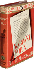 Books:Mystery & Detective Fiction, Philip MacDonald. Warrant for X. Garden City: Crime Club, 1938. First American edition. ...