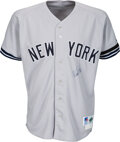 """Baseball Collectibles:Uniforms, 1995 Wade Boggs Game Worn & Signed New York Yankees Jersey with Mickey Mantle Memorial """"7"""" & Black Armband...."""