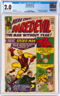 Silver Age (1956-1969):Superhero, Daredevil #1 (Marvel, 1964) CGC GD 2.0 Cream to off-white pages....