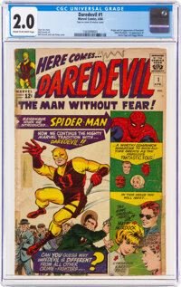 Daredevil #1 (Marvel, 1964) CGC GD 2.0 Cream to off-white pages