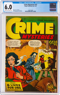 Crime Mysteries #13 (Ribage Publishing, 1954) CGC FN 6.0 Cream to off-white pages
