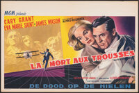 """North by Northwest (MGM, 1959). Folded, Very Fine. Belgian (14.25"""" X 21.25""""). Hitchcock"""