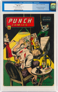 Punch Comics #9 (Chesler, 1944) CGC FN 6.0 Cream to off-white pages