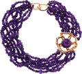 Estate Jewelry:Necklaces, Amethyst, Ruby, Gold Necklace . ...