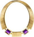 Estate Jewelry:Necklaces, Amethyst, Diamond, Gold Necklace, Weingrill. ...