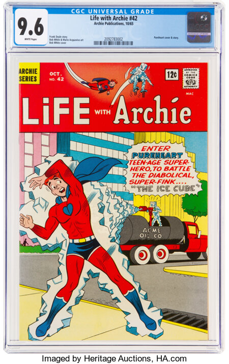 Life With Archie #42 (Archie, 1965) CGC NM+ 9.6 White pages....