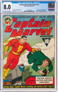 Golden Age (1938-1955):Superhero, Captain Marvel Adventures #22 (Fawcett Publications, 1943) CGC VF 8.0 Off-white to white pages....