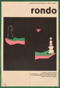 """Movie Posters:Foreign, Roundabout (CWF, 1966). Folded, Very Fine-. Polish Poster (23"""" X 33.25"""") Andrzej Onegin-Dabrowski Artwork. Original Title: ..."""