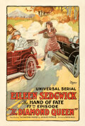 Movie Posters:Serial, The Diamond Queen (Universal, 1921). Fine/Very Fine on Lin...