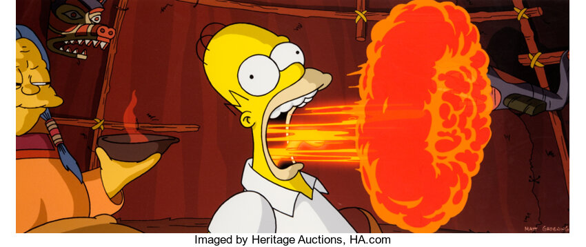 The Simpsons Movie Flaming Homer Limited Edition Giclee 19 195 Lot 11758 Heritage Auctions