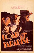 """Movie Posters:Drama, Road to Paradise (First National, 1930). Fine/Very Fine. Window Card (14"""" X 22"""").. ..."""