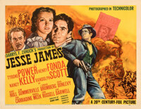 "Jesse James (20th Century Fox, 1939). Very Fine- on Paper. Half Sheet (22"" X 28"") Fredric C. Madan Artwork..."