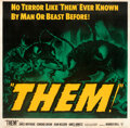 Movie Posters:Science Fiction, Them! (Warner Bros., 1954). Very Fine- on Linen. S...