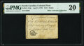 Colonial Notes:North Carolina, North Carolina April 2, 1776 $1/8 Snake Biting Sword in Scabbard Fr. NC-154g PMG Very Fine 20.. ...