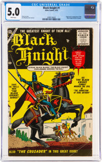 Black Knight #1 (Atlas, 1955) CGC VG/FN 5.0 White pages