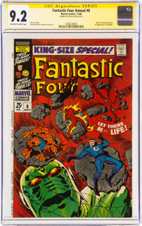 Fantastic Four Annual #6 Signature Series: Stan Lee (Marvel, 1968) CGC NM- 9.2 Off-white to white pages