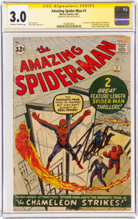 The Amazing Spider-Man #1 Signature Series: Stan Lee (Marvel, 1963) CGC GD/VG 3.0 Off-white to white pages