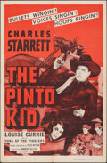 """Movie Posters:Western, The Pinto Kid (Columbia, R-1955). Folded, Very Fine+. One Sheet (27"""" X 41""""). Western.. ..."""