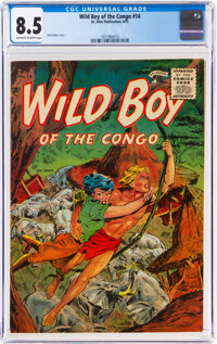 Wild Boy of the Congo #14 (St. John, 1955) CGC VF+ 8.5 Off-white to white pages
