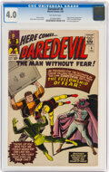 Silver Age (1956-1969):Superhero, Daredevil #6 (Marvel, 1965) CGC VG 4.0 Off-white pages....