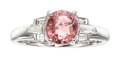Estate Jewelry:Rings, Padparadscha Sapphire, Diamond, Platinum Ring . ...