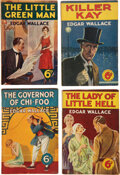 Books:Mystery & Detective Fiction, Edgar Wallace [pseudonym of Richard Horatio]. Group of Eight Sixpence Novels. London: [various publishers, n.d., but ca. 192... (Total: 8 Items)