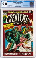 Bronze Age (1970-1979):Horror, Creatures on the Loose #20 (Marvel, 1972) CGC NM/MT 9.8 Off-white to white pages....