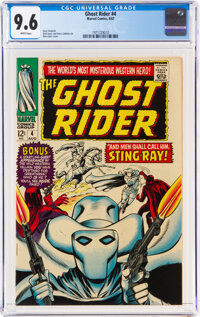 The Ghost Rider #4 (Marvel, 1967) CGC NM+ 9.6 White pages