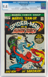 Marvel Team-Up #1 Spider-Man and the Human Torch - Western Penn Pedigree (Marvel, 1972) CGC NM 9.4 White pages