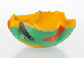 Glass, Toots Zynsky (American, b. 1951). Vessel, circa 1990. Filet-de-verre. 5-1/2 x 12 inches (14.0 x 30.5 cm). Applied Z ...