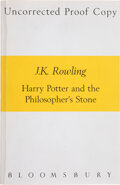 Books:Children's Books, J. K. Rowling. Harry Potter and the Philosopher's Stone. [London]: Bloomsbury, 1997. Uncorrected proof copy. One of ...