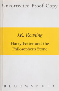 J. K. Rowling. Harry Potter and the Philosopher's Stone. [London]: Bloomsbury, 1997. Uncorrecte