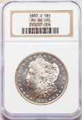 Morgan Dollars, 1883-O $1 MS64 Deep Mirror Prooflike NGC. NGC Census: (299/61). PCGS Population: (543/139). CDN: $300 Whsle. Bid for NGC/PC...