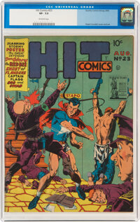 Hit Comics #23 (Quality, 1942) CGC VF- 7.5 Off-white pages