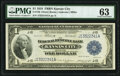 Large Size:Federal Reserve Bank Notes, Fr. 738 $1 1918 Federal Reserve Bank Note PMG Choice Uncirculated 63.. ...