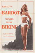 """Movie Posters:Foreign, The Girl in the Bikini (Atlantis Films, 1958). Folded, Fine/Very Fine. First U.S. Release One Sheet (27"""" X 41""""). Foreign.. ..."""
