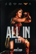 "Movie Posters:Action, Justice League (Warner Bros., 2017). Rolled, Very Fine+. Bus Shelters (2) (48"" X 72"") SS Advance, Wonder Woman and Batman St... (Total: 2 Items)"