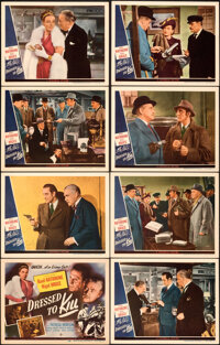 """Dressed to Kill (Universal, 1946). Very Fine+. Lobby Card Set of 8 (11"""" X 14""""). ... (Total: 8 Items)"""