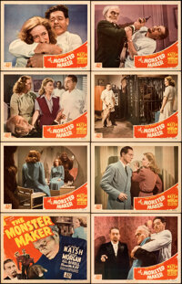 """The Monster Maker (PRC, 1944). Very Fine. Lobby Card Set of 8 (11"""" X 14""""). ... (Total: 8 Items)"""