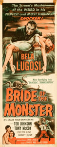 Movie Posters:Horror, Bride of the Monster (Filmmakers Releasing, 1956). Folded,...