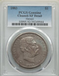 Coins of Hawaii , 1883 $1 Hawaii Dollar -- Cleaning -- PCGS Genuine. XF Details. Mintage 46,348. ...