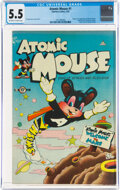 Golden Age (1938-1955):Funny Animal, Atomic Mouse #1 (Charlton, 1953) CGC FN- 5.5 Off-white to white pages....