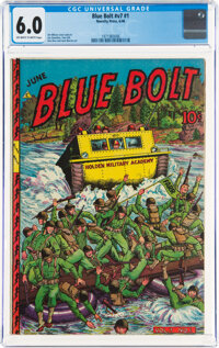Blue Bolt V7#1 (Novelty Press, 1946) CGC FN 6.0 Off-white to white pages