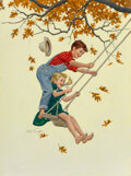Paintings, Arthur Saron Sarnoff (American, 1912-2000). Swinging. Oil on board. 32 x 24 inches (81.3 x 61.0 cm). Signed lower left. ...