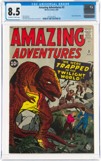 Amazing Adventures #3 (Marvel, 1961) CGC VF+ 8.5 Off-white to white pages