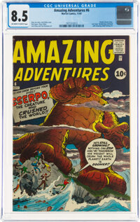 Amazing Adventures #6 (Marvel, 1961) CGC VF+ 8.5 Off-white to white pages